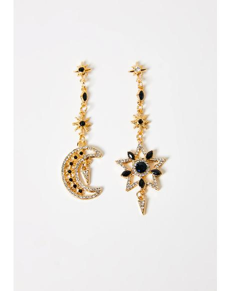 Celestial Supernova Drop Earrings
