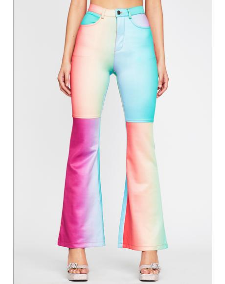 Rainbow Taste Flared Pants
