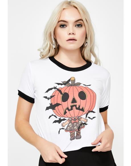 Pumpkin Babe Ringer Tee