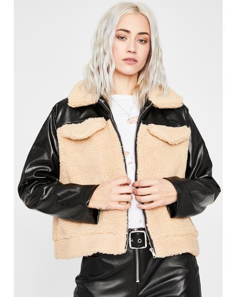 Keepin' It Real Sherpa Jacket