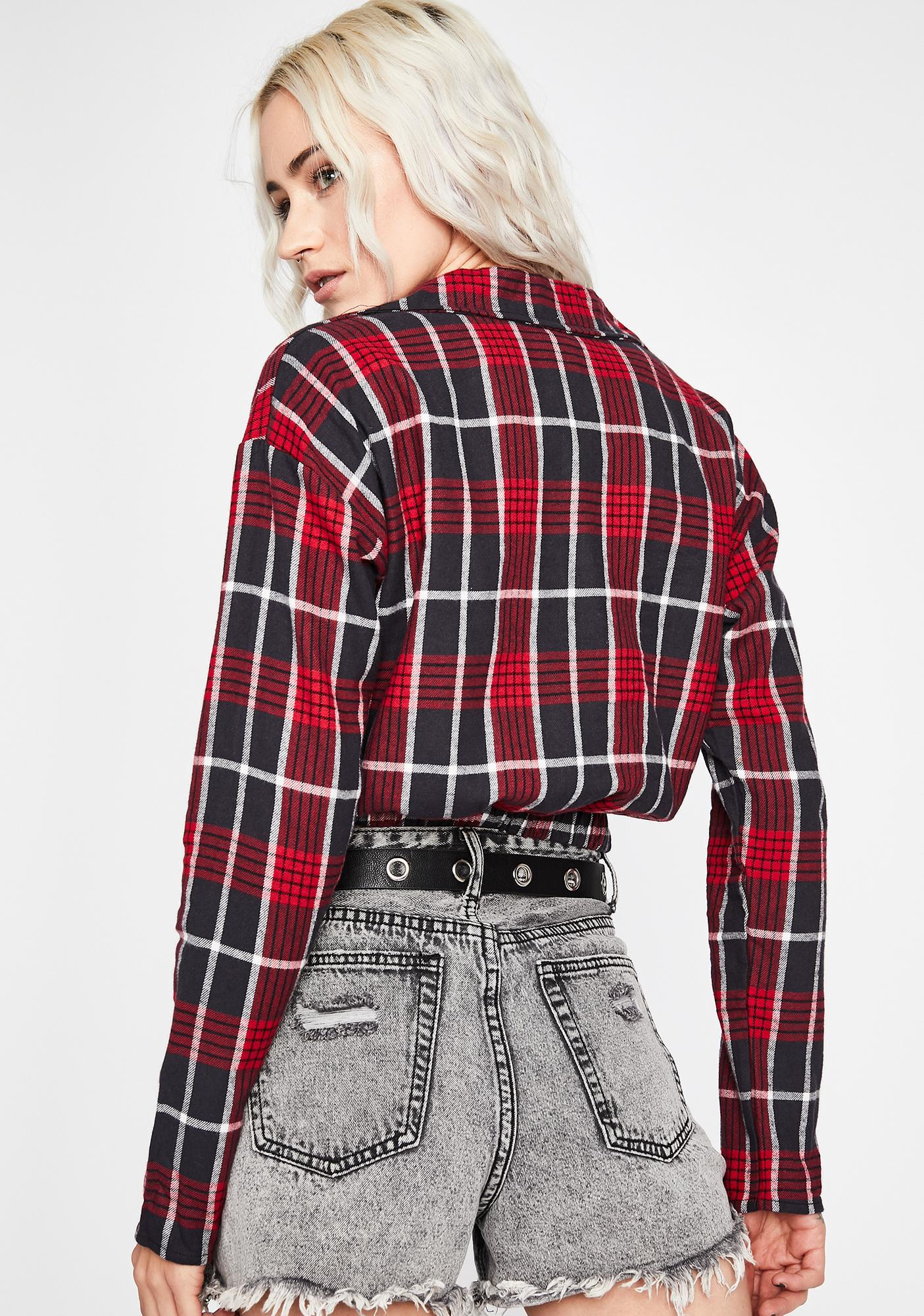 Rustic Baddie Plaid Crop Top