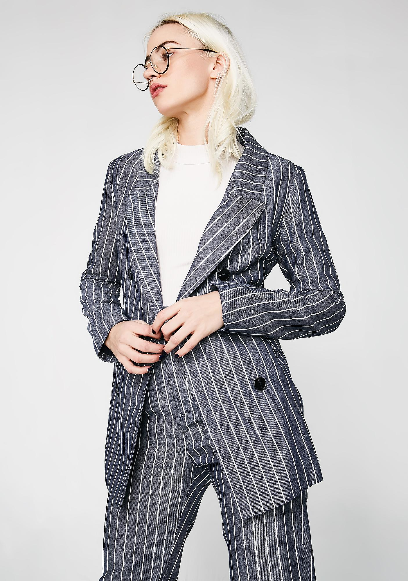 All Bizness Denim Blazer