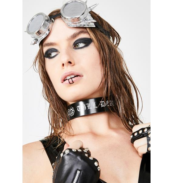 Nearing Death PVC Choker