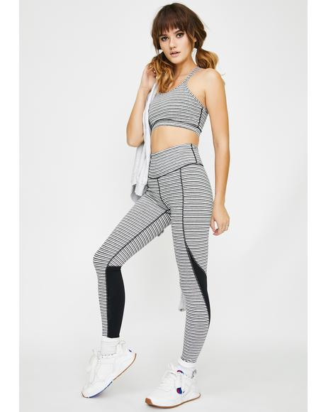 True Baddie Striped Sports Leggings