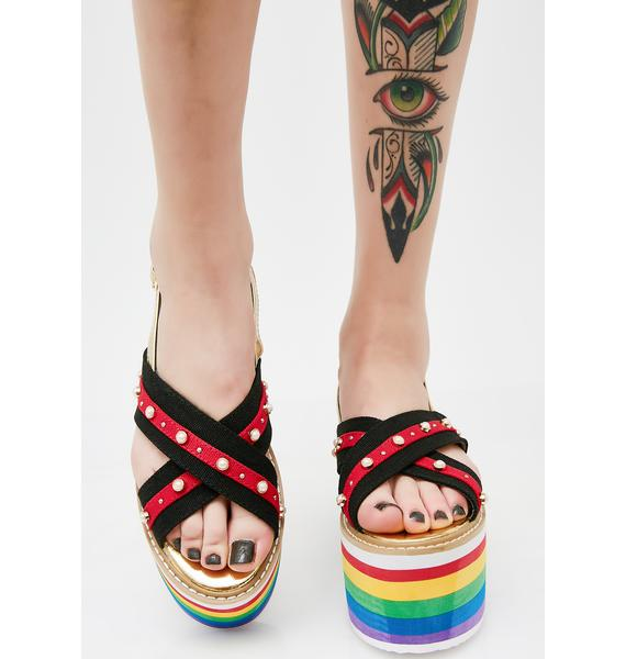 More Rainbows Platform Sandals