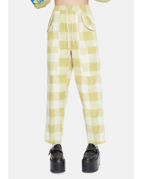 Provence Plaid Pants