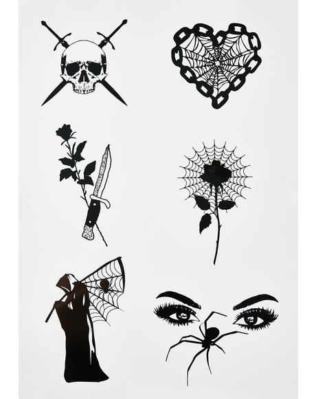 Art Of Terror Temporary Tattoos