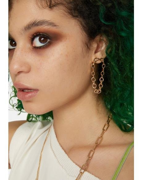 What They Want Chain Link Earrings