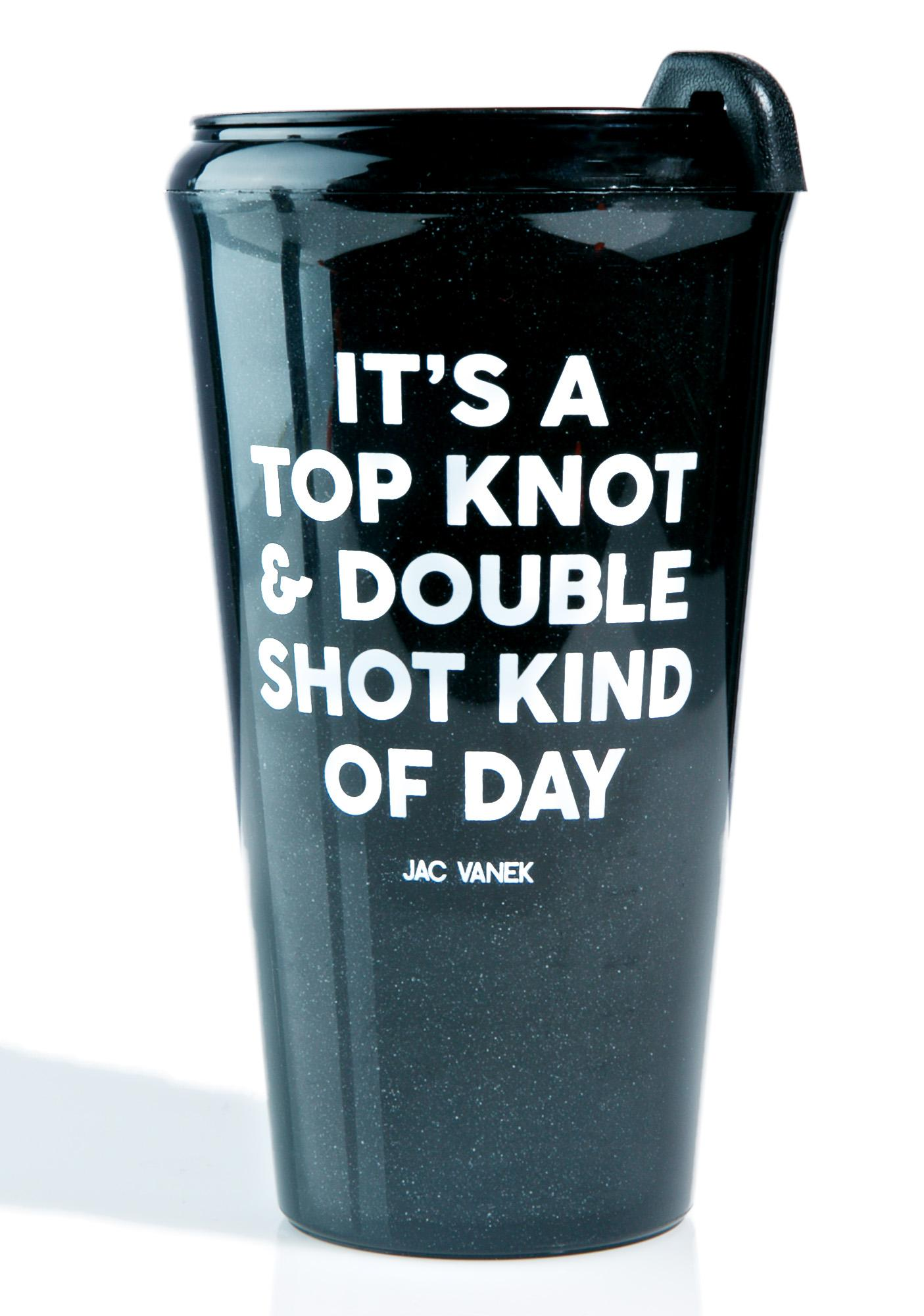 Jac Vanek Top Knot Travel Mug