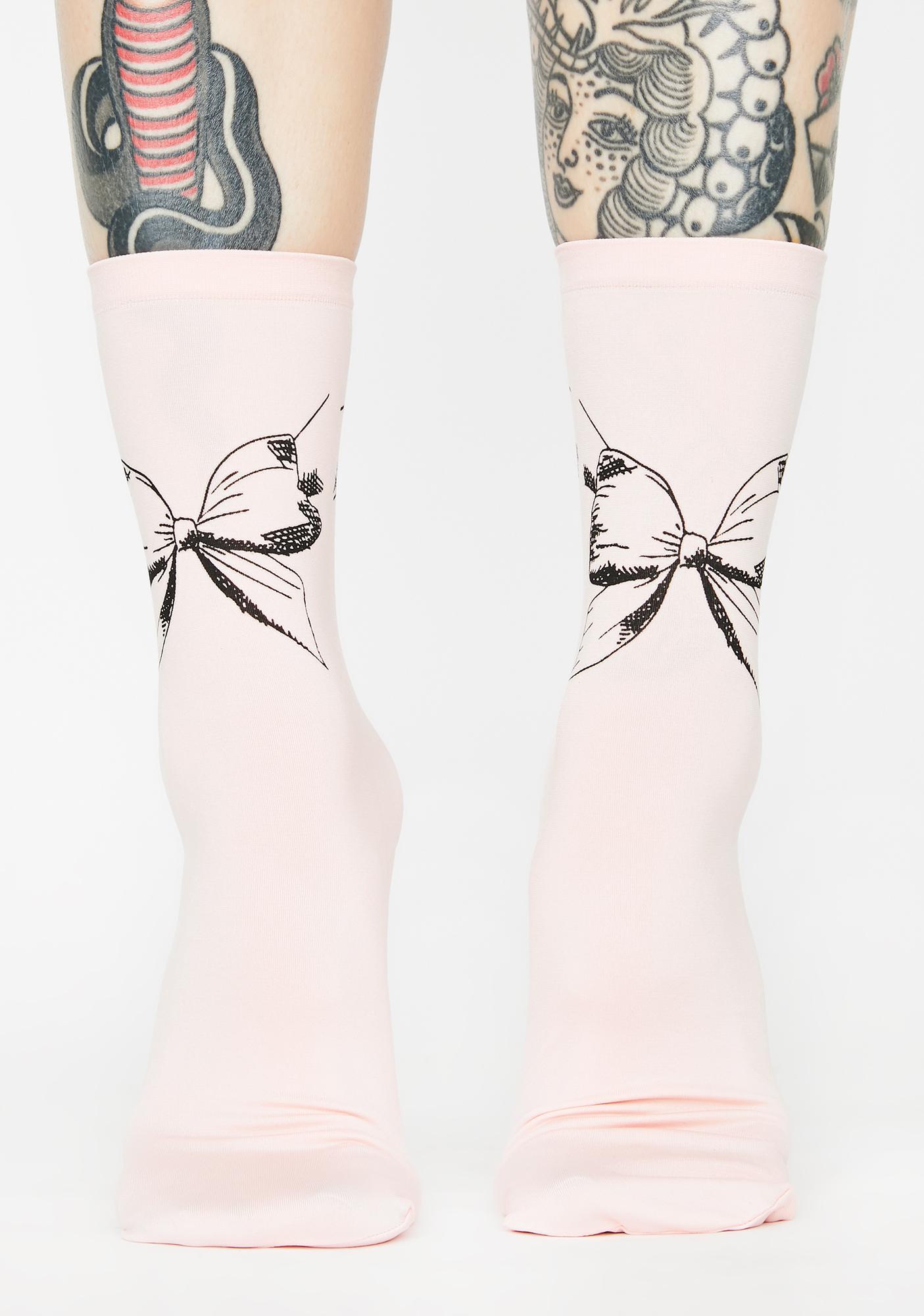 MeMoi Put A Bow On It Ankle Socks