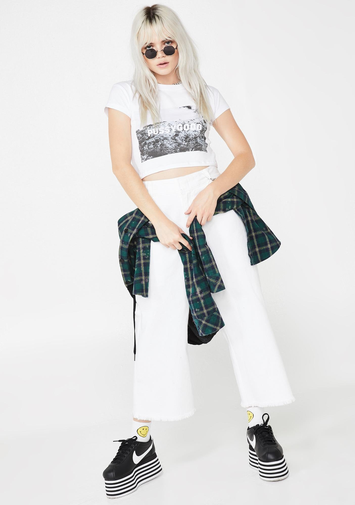Untitled & Co Pussygood Crop Tee