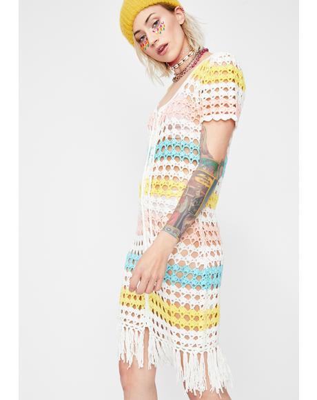 Groove Is In The Heart Crochet Dress