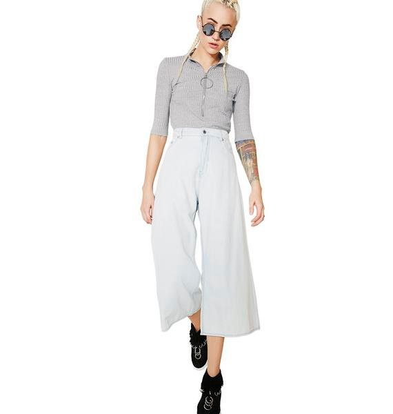 Cheap Monday Abstract Denim Trousers