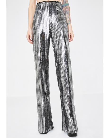 Disco Heart Metallic Pants