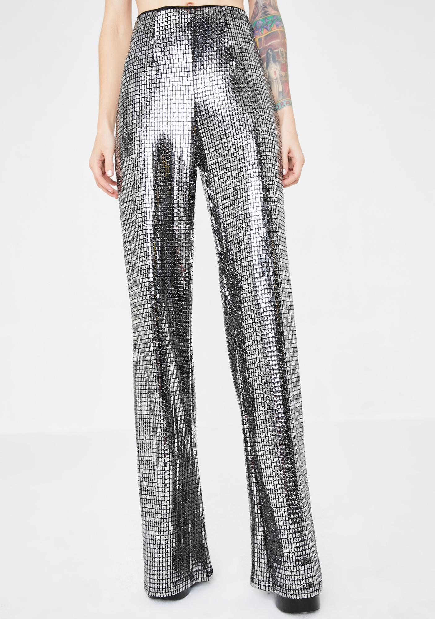Kiki Riki Disco Heart Metallic Pants