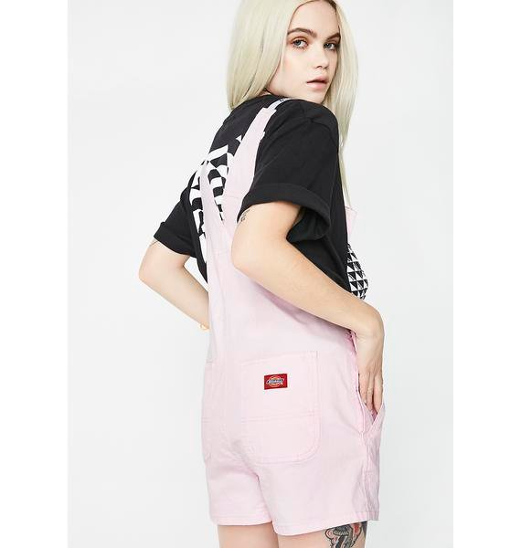 Dickies Girl Sweet Logo Strap Shortalls