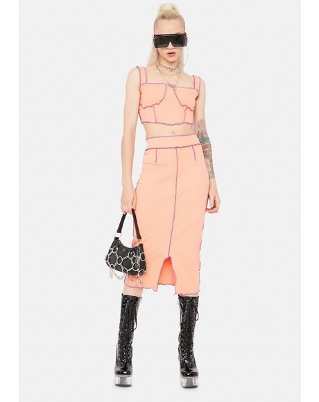 Diva Ur My Hunny Bunny Lettuce Trim Skirt Set
