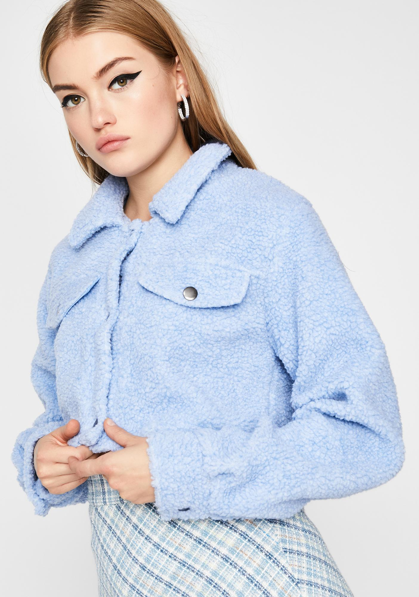 Covered In Clouds Sherpa Jacket