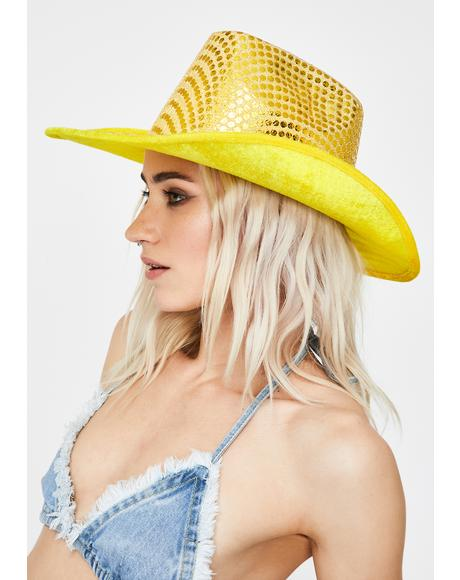 Yellow Space Cowboy Hat