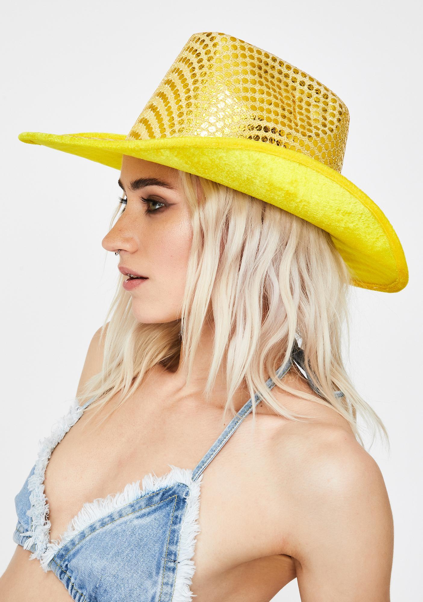 Good Times Eyewear Yellow Space Cowboy Hat