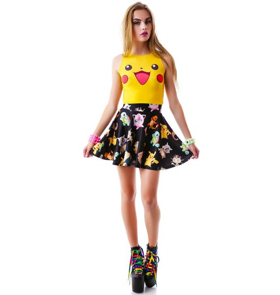 O Mighty Gotta Catch 'Em All Skater Skirt