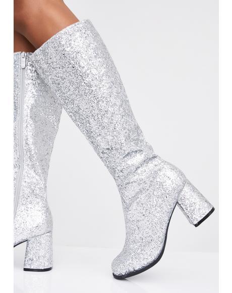 Starlight Go-Go Baby Glitter Boots