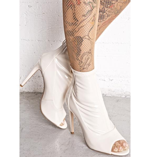Nude Illusions Peep-Toe Boots
