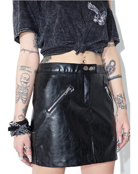 Hagen Moto Skirt