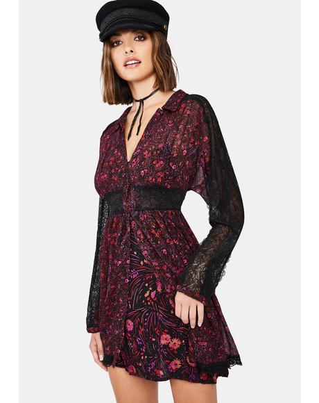 Sheer Romance Mini Dress