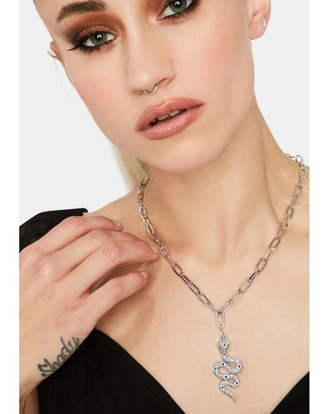 Sneakin' Snake Chain Necklace