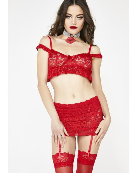 Kiss It Better Garter Skirt