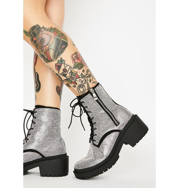 Get The Likes Rhinestone Boots