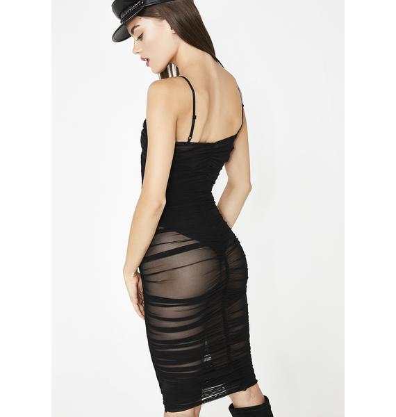 Lady Vamp Sheer Dress