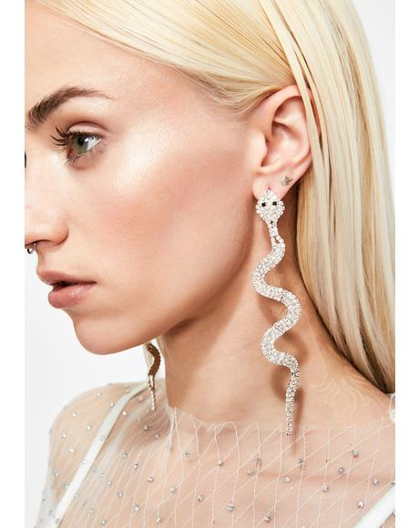 Dangerous Diva Snake Earrings