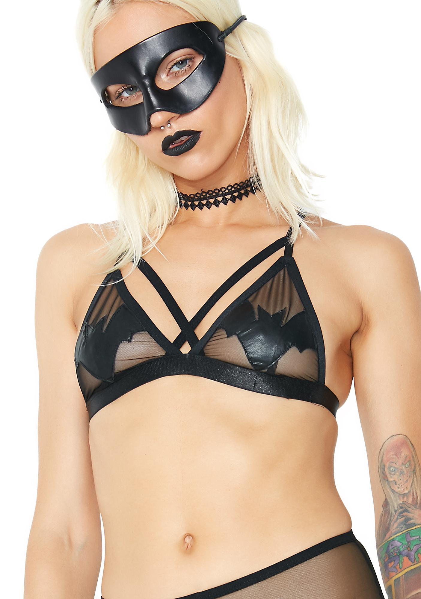 Dolls Kill Naughty Nosferatu Sheer Bralette