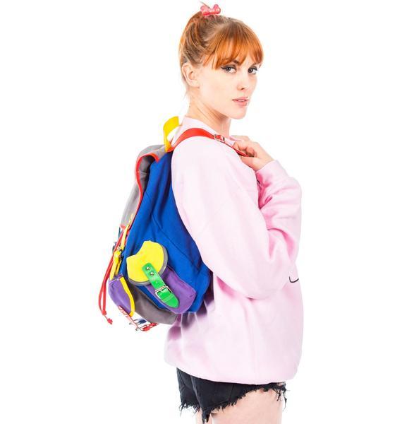Lazy Oaf Color Block Ruck Sack Bag