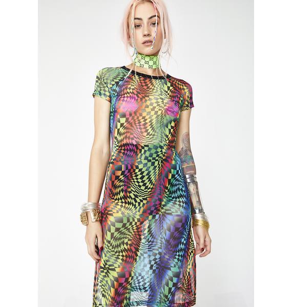 Club Exx Psytrance Mesh Dress