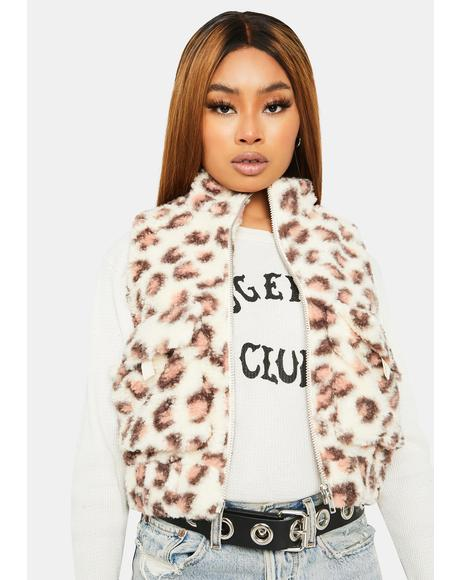 Sugar Give Me Love Faux Fur Vest
