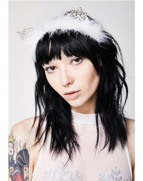 Snow Kitty Headband