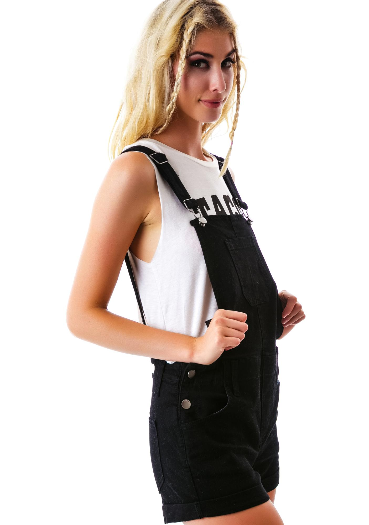 Back To School Overall Shorts
