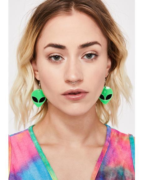 Ultrasonic Unknown Alien Earrings