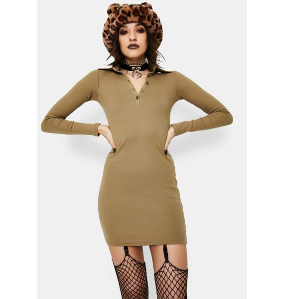 Motel Jeelo Ribbed Bodycon Dress