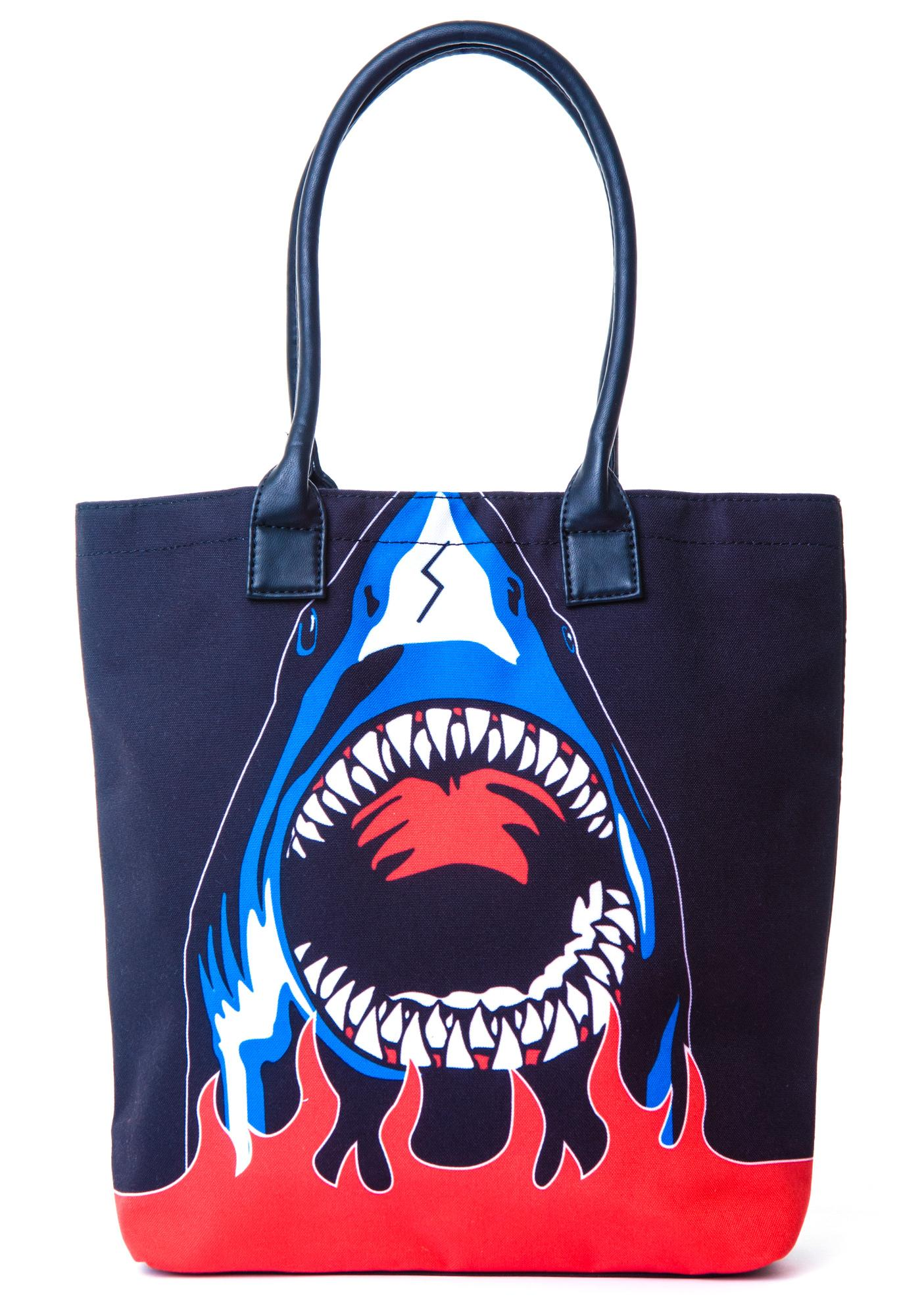 Halfman Romantics Shark Attack Tote Bag