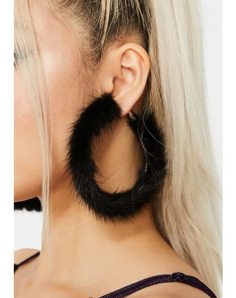 Outspoken Fiery Fuzzy Hoop Earrings
