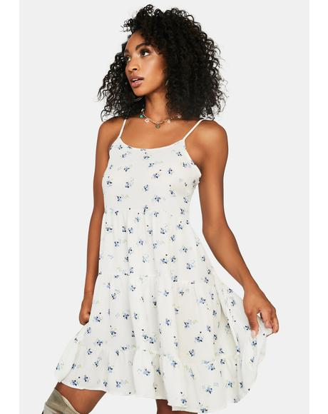 Innocent Picnic Date Floral Dress
