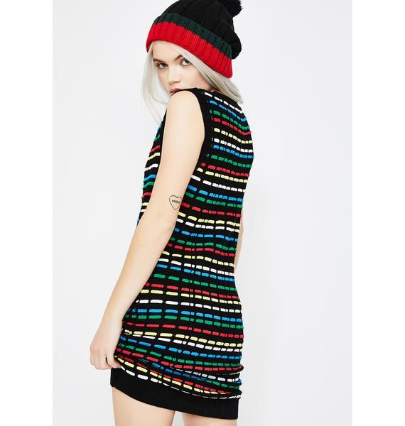 Light The Way Sweater Dress
