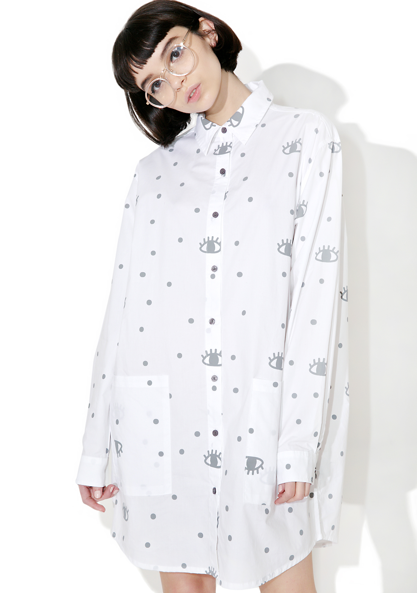 Lazy Oaf Eyelash Shirt