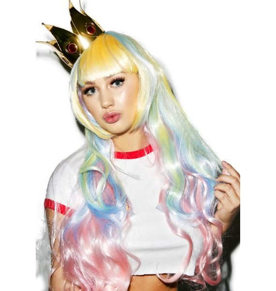 Ice Cream Pastel Princess Wig
