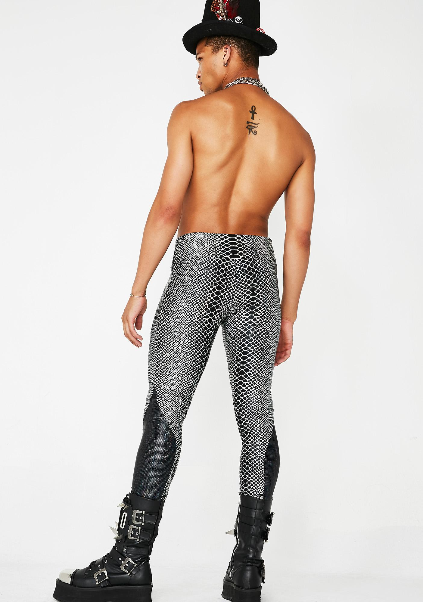 Love Khaos Holographic Python Meggings