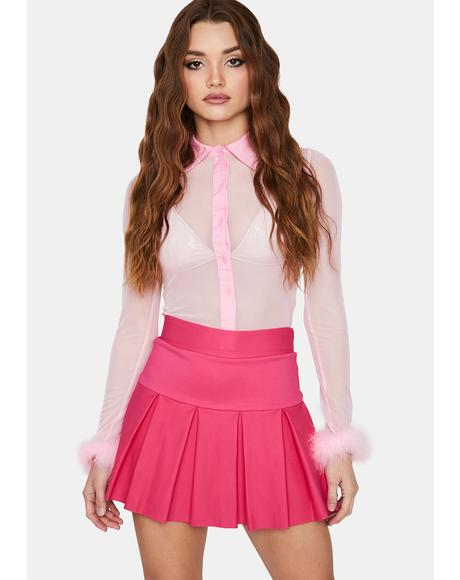 Haute Wicked Scholar Pleated Mini Skirt